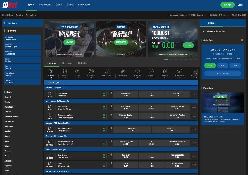 10Bet review - odds, offers and campaign!