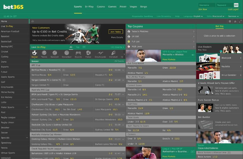 Bet365 odds and online betting