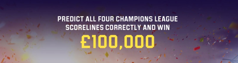 Guess the results for the quarterfinals and £100 000!