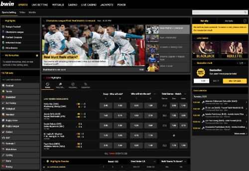 Bwin odds and betting online!